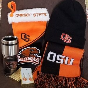 OREGON STATE BEAVER BUNDLE HAT/EARRINGS/SCARF